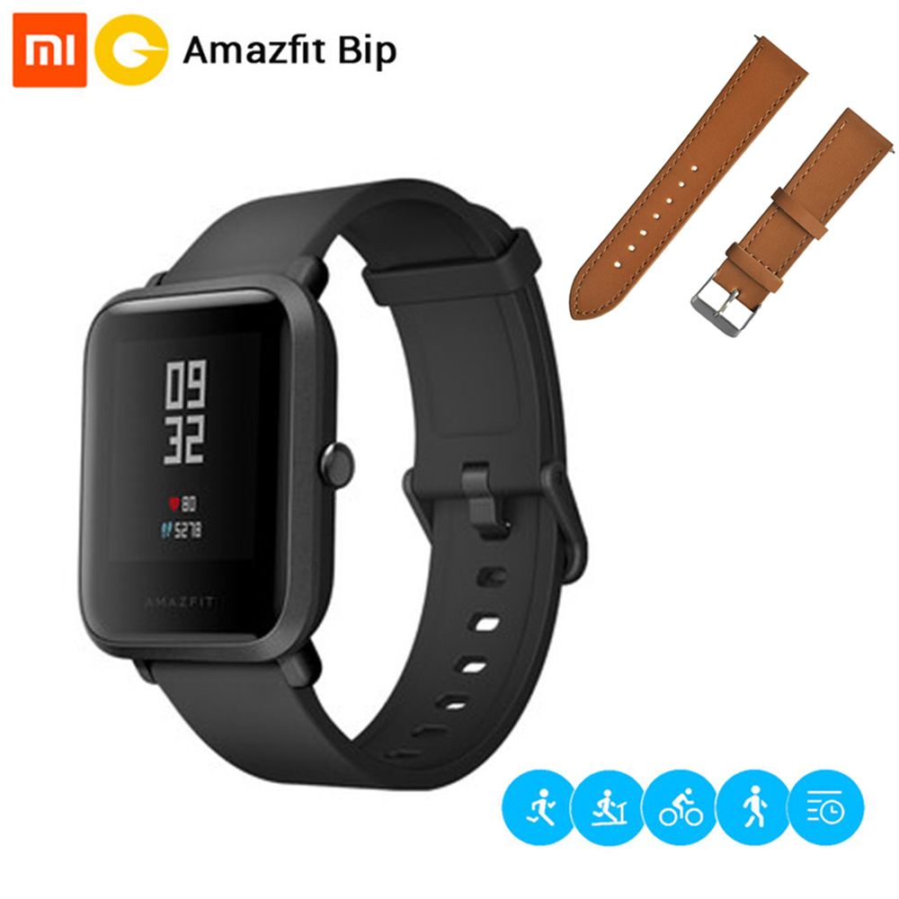 Original Xiaomi Huami Amazfit Bip Bit Pace Lite Youth Version Smart Watch IP68 Waterproof GPS Glonass Mi Fit BT 4.0 Smartwatch english version original xiaomi huami amazfit youth smart watch bip bit face gps fitness tacker heart rate baro ip68 waterproof