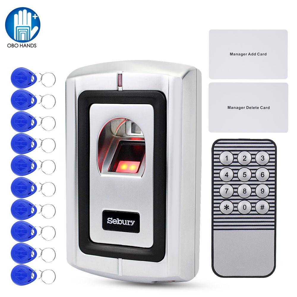 OBO Fingerprint Lock Metal Access Control System Biometric RFID Access Controller Door Opener Rainproof Cover Standalone WG26
