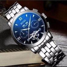 2016 Men Luxury Brand stainless steel Strap Men Mechanical Wristwatches Male Waterproof Quartz Watch business Relogio Masculino