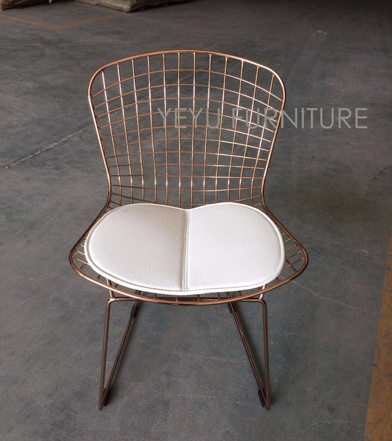 Bertoia Wire Chair aliexpress : buy rose gold color bertoia wire chair modern