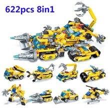 hot deal buy 8-in-1 phantom chariot 622pcs children's building blocks compatible brand toys
