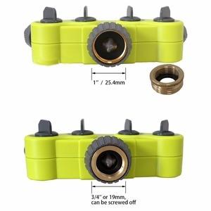 Image 3 - Garten 4 Weg Schlauch Splitter Kunststoff Anschluss Distributor Schlauch Anschluss mit Kupfer Stecker für Outdoor Tap und Wasserhahn #27224