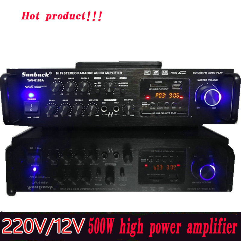 car amplifier 220V12v high power 500W subwoofer professional audio home amplifier TAV-6188A велосипед cube touring hybrid one 400 lady 2018