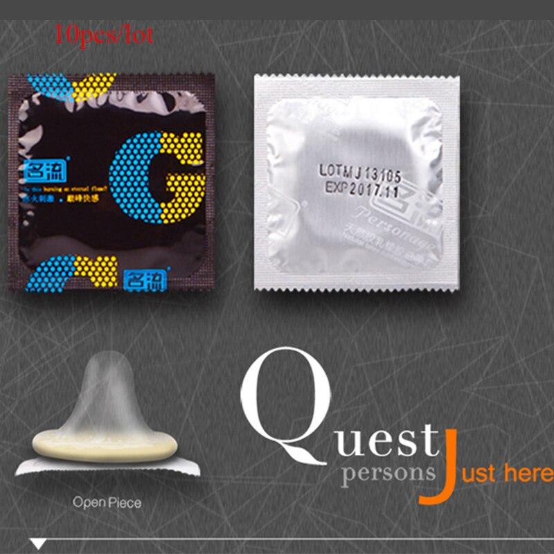 10pcs lot G Spot font b Condoms b font for Men camisinha Delay Ejaculation Male Big