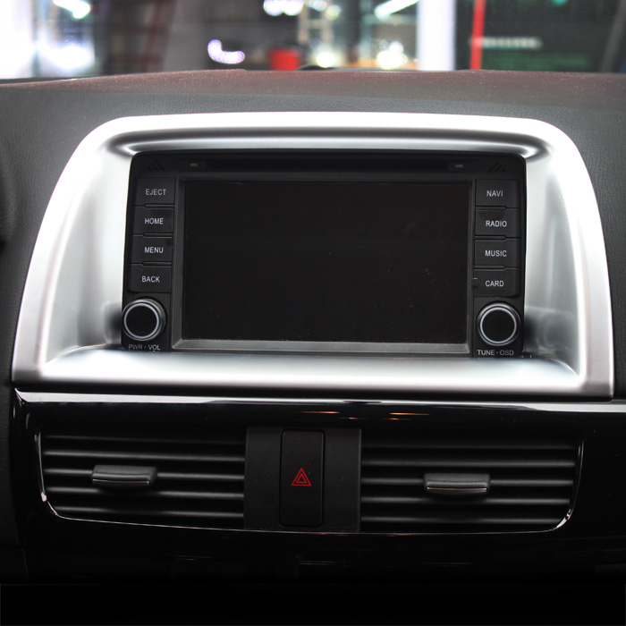 Car styling Inner Console GPS Navigation Cover Trim For Mazda CX 5 CX5 2015 2016 Car