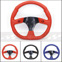 SP car Sport steering wheel racing type High quality universal 14inches 350MM Aluminum+PVC 3 colors black Red blue