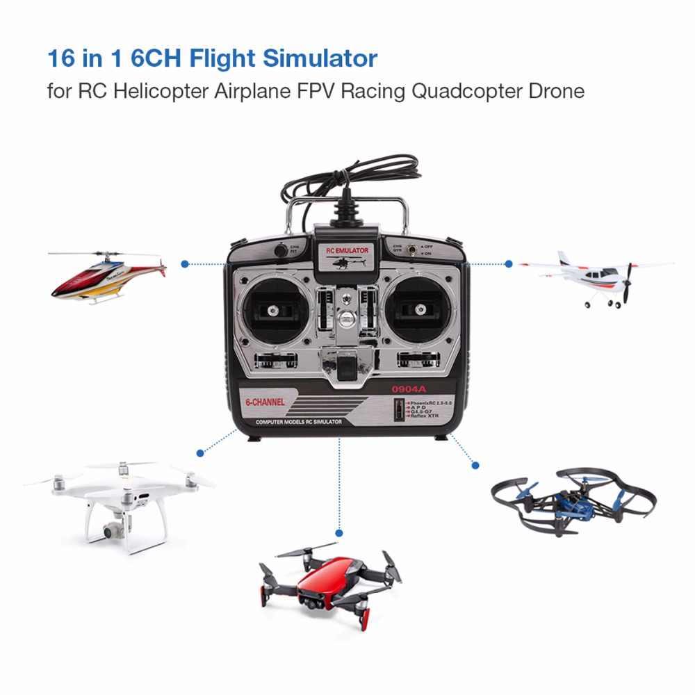 DTXMX 6CH Радиоуправляемый симулятор полета симулятор JTL-0904A поддержка Realflight G7 Phoenix 5,0 XTR пульт дистанционного управления Вертолет с фиксированным крылом Дрон (MODE2)