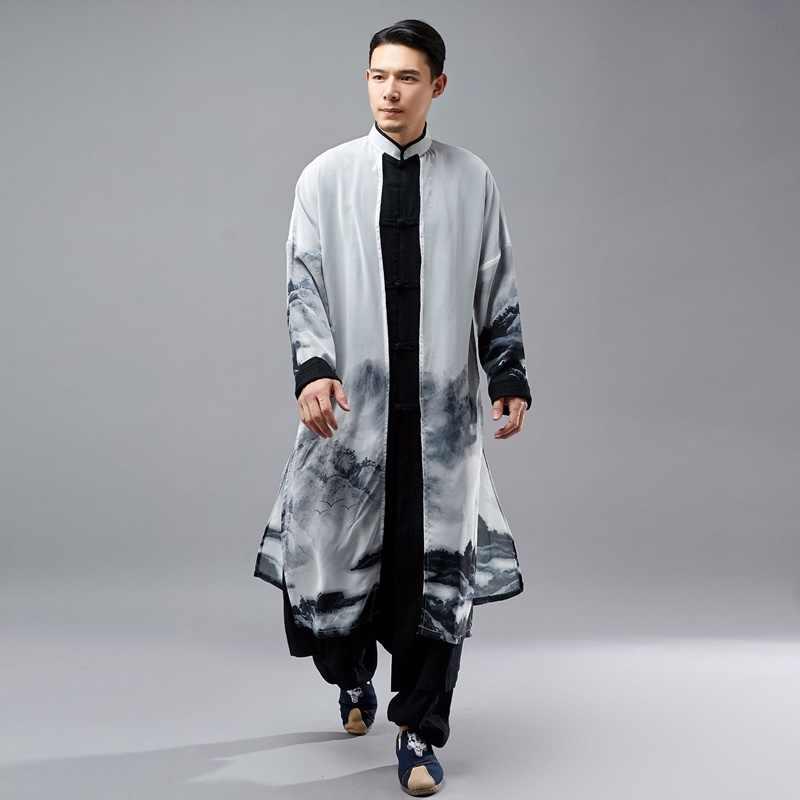 Традиционное китайское платье мужская одежда 2018 азиатская одежда мужская китайская культура традиции льняные рубашки мужские TA048