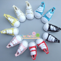 One pair Assorted Color 5cm Canvas Shoes For BJD Doll Fashion Mini Toy Shoes Sneaker Bjd Doll Shoes for Russian Doll Accessories