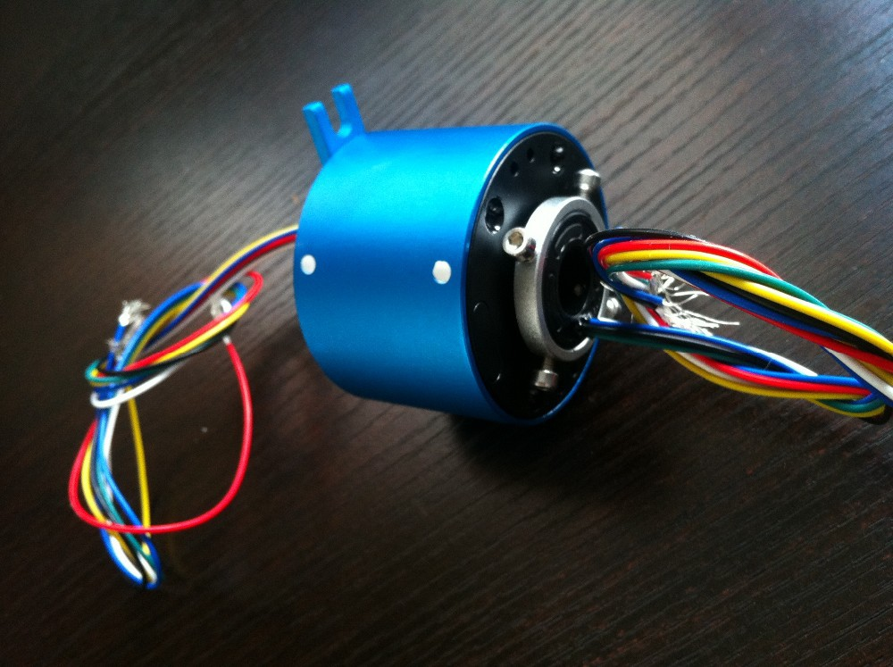 Bore Slip Ring hole size 70mm 6- Conductors 380VAC 600Rpm  collect ring connector mercury slip ring 1 pole 50a