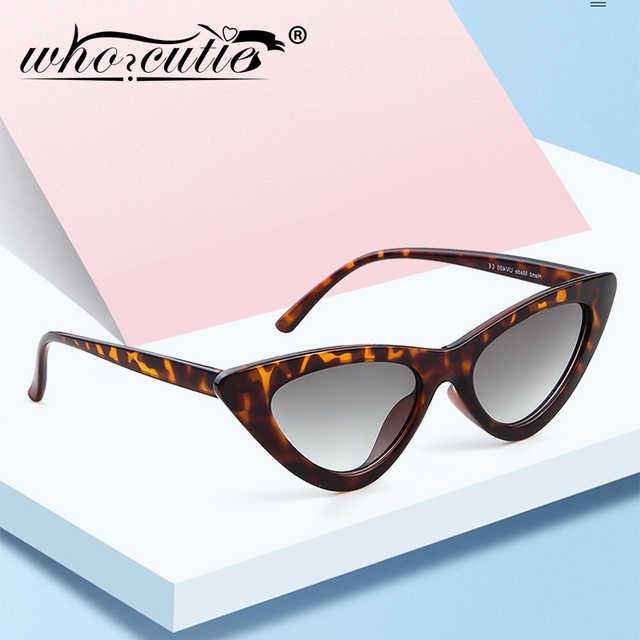 4c86000ff8 WHO CUTIE 2018 Small Cateye 90s Sunglasses Sexy Women Vintage Cat Eye Frame  Red Mirror Lens Tiny 80s 90s Sun Glasses Shades 440B