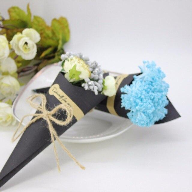 Wedding favors flower cones holder ice cream style diy blackbrown wedding favors flower cones holder ice cream style diy blackbrown paper candy boxes gift mightylinksfo