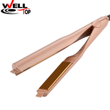 2 In 1 Hair Straightener Curler Gold Plated Titanium Plates Hair Straightener Irons Hair Straightening Curlers Hair Care Styling