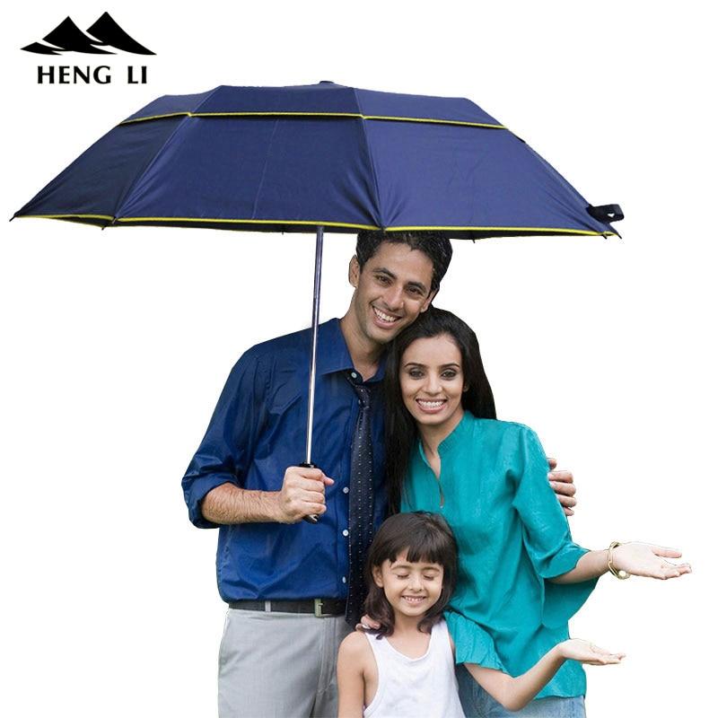 Brand Large Folding Umbrella Men Rain Woman Double Golf Business Gift Umbrella Semi-Automatic High Quality Windproof Umbrellas