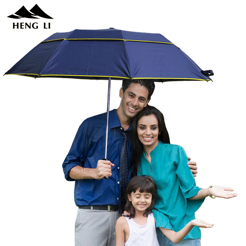 Brand Large Folding Umbrella Men Rain Woman Double Golf Business Gift Umbrella Semi Automatic High Quality Windproof Umbrellas
