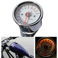 Universal Sliver Motorcycle Dual Tachometer Speedometer Gauge LED Light 13000RPM