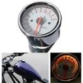 Universal Sliver Motorcycle Dual Tachometer Speedometer Gauge LED Light 13000RPM