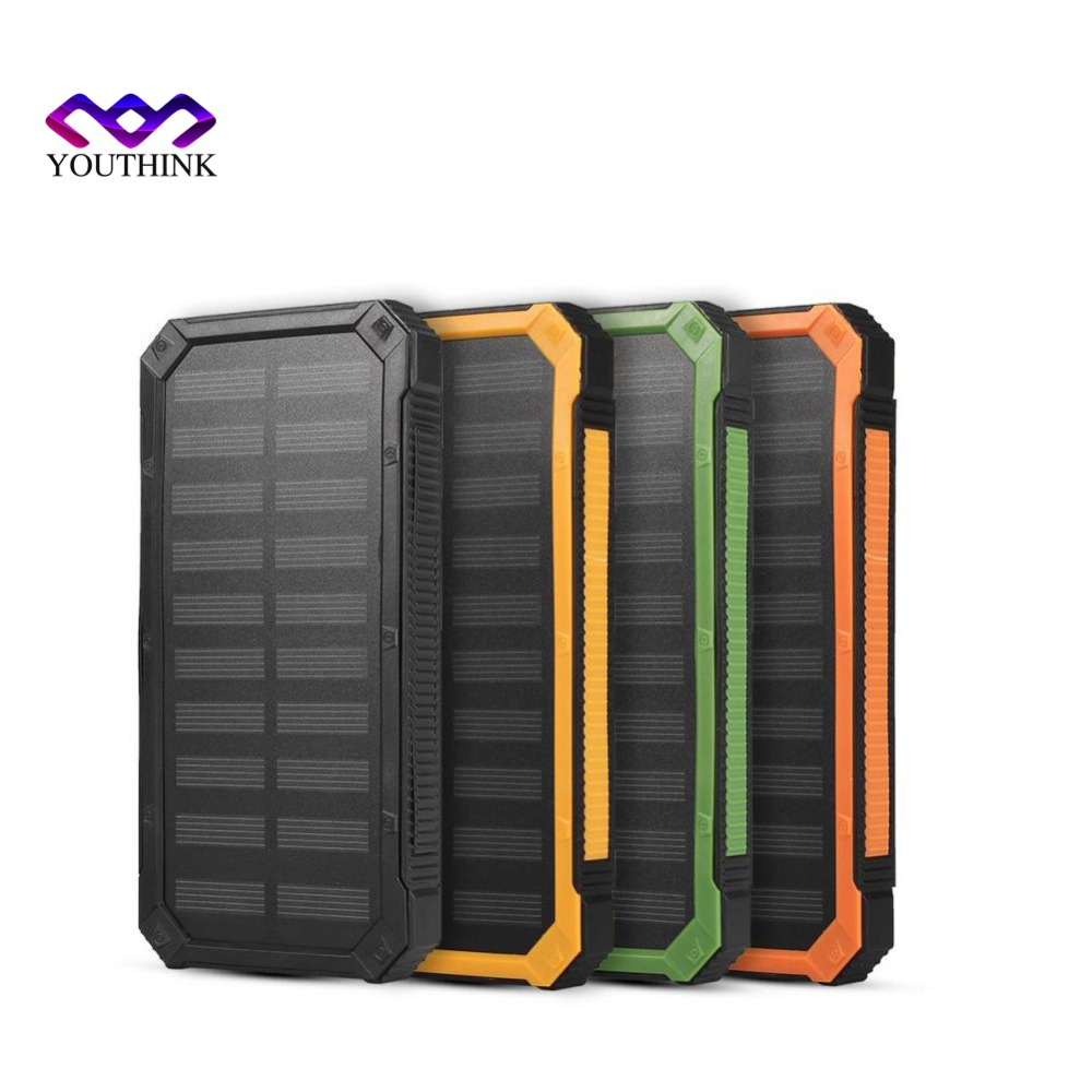 2*706090 no Battery Solar Power Bank Case Portable External Battery Charger For Smart Phone Battery 2*606090 not Included