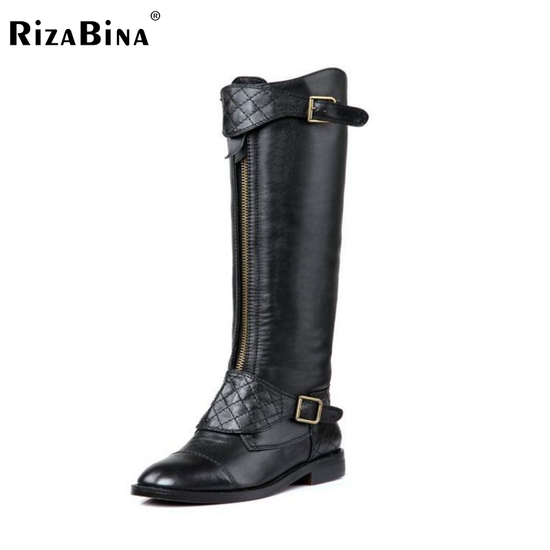 RizaBina Free shipping over knee long boots natural real genuine leather boots women boot high heel shoes R5468  EUR size 34-39 free shipping candy color women garden shoes breathable women beach shoes hsa21