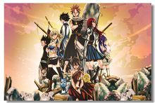Free Ship 2015 Silk Wallpaper Custom  Canvas Poster Fairy Tail  Photographic Paper Wall Sticker PN#105#