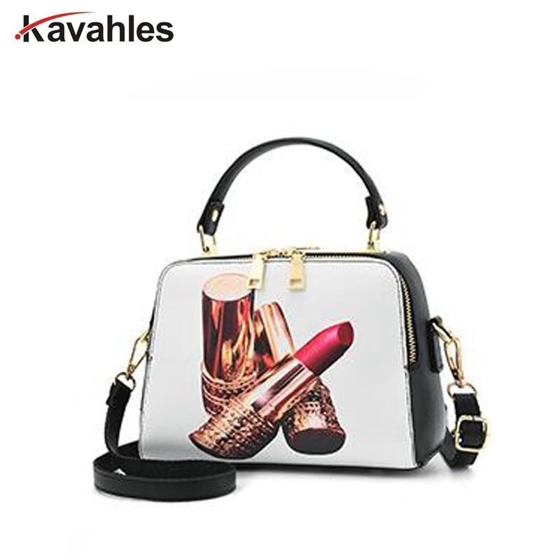 2018 New Arrival Character pattern women Handbags Ladies PU Leather Cartoon Printed trunk tote bag femme Shoulder Bags LW-32