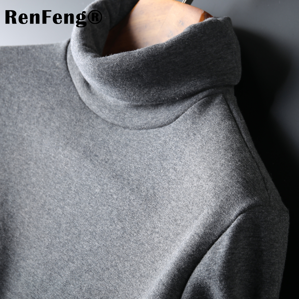 Men's Fashion Winter Men Slim thermo Long Sleeve T shirt Thicken Flannel Thermal Underwear Basic Tops Turtleneck Undershirt Male (9)