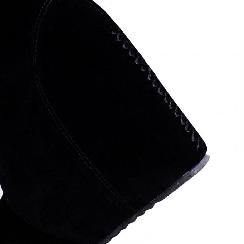 Casual Mode De Grande À Discothèque Plate Gladiateur Beige Sexy Bottes yellow Pompes Taille Cheville black Coins Talons Femmes Chaussures Robe forme Hauts Zfq5df