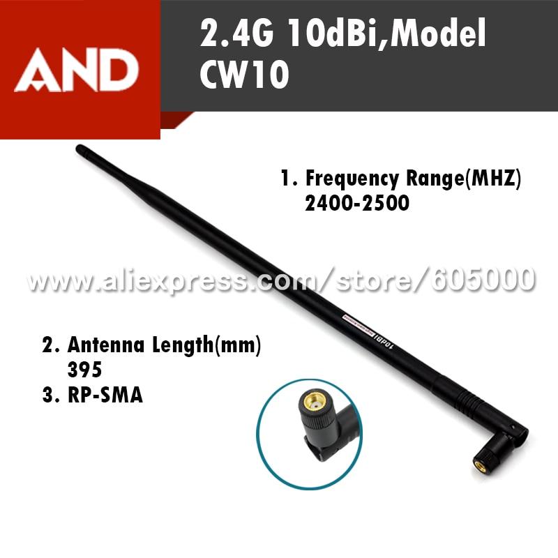 imágenes para Venta caliente 2.4G 10dBi Antena De Alta ganancia, la Antena Wifi, Wireless Router WiFi antena
