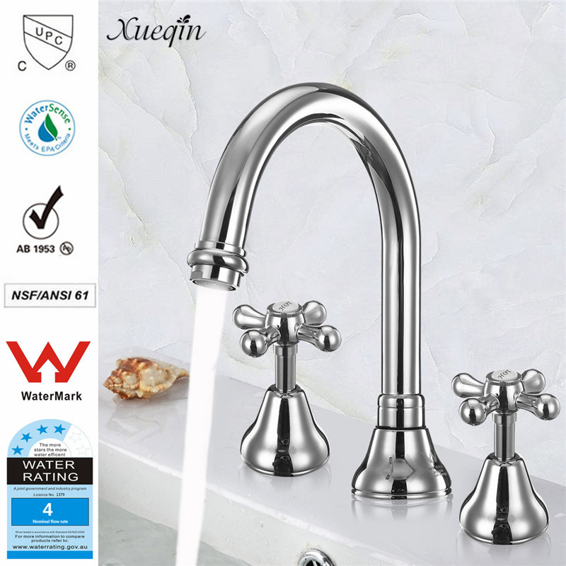 Xueqin Watermark&Wels Stainless Steel Basin Faucet DR Brass Construction Ceramic Cartridge Zinc Handle With Two Braided Hoses dr512 dr 512 dr 512 drum cartridge for konica minolta bizhub c364 c284 c224 c454 c554 image unit with chip and opc