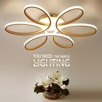 Modern New Design Led Ceiling Lights For Living Room Bedroom Aluminum Body AC85 265V Home