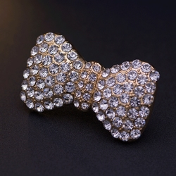 Removable womens bowtie design shoes decorations luxury style shoes clip shoes buckle