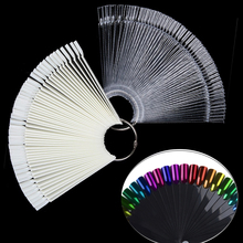 1Set False Nail Tips Nature Clear Black Fan Finger Full Card Nail Art Display Practice Acrylic UV Gel Polish Tool Manicure цена