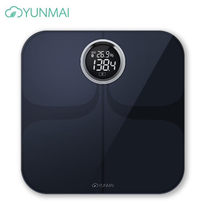 Original White Black Smart Yunmai Premium mi Scale Weight Digital Bathroom Scale Bluetooth APP Electronic Body Fat Scales m1301-in Bathroom Scales from Home & Garden    1