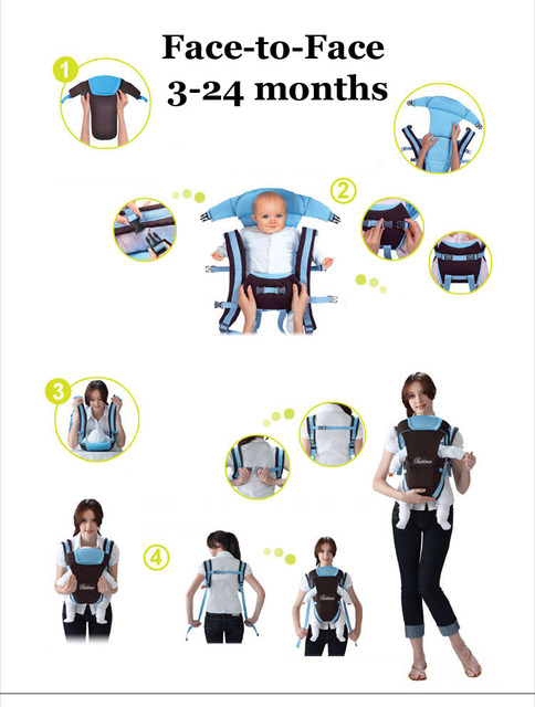 Beth Bear 0-30 months baby carrier, ergonomic kids sling backpack pouch wrap Front Facing multifunctional infant kangaroo bag 3