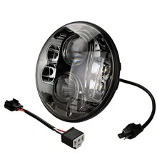 7 Inch Round Projector LED Headlight DOT ECE Emarked E13 Approved Low / High Beam Harley Headlamp For Jeep Wrangler Land rover