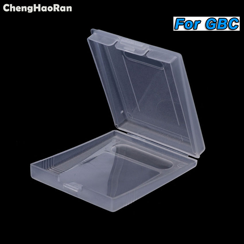 ChengHaoRan 100Pcs Clear Plastic Game Cartridge Case Dust Cover For Nintendo GameBoy Color For GBC