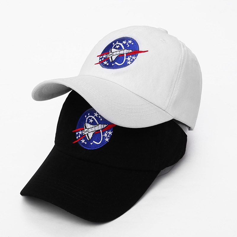 Badinka 2018 New Spacex Outer space Fans Universe Spacecraft Spaceman Explorer Cotton   Baseball     Cap   Hat Women Men Casual Dad Hats
