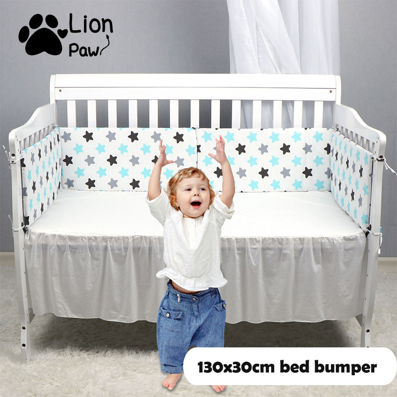 LionPaw Baby Crib Side Bumper Infant Cot Bed Bumper 130*30cm Newborn Baby Bedding Crib Room Decor Baby Pillow Baby Gif