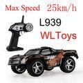 Incrível WLtoys L939 Alta Velocidade 2.4G mini RC Carro de Drift 5 Nível de Mudança de Velocidade Proporcional Completa Volante do carro de Controle Remoto brinquedos