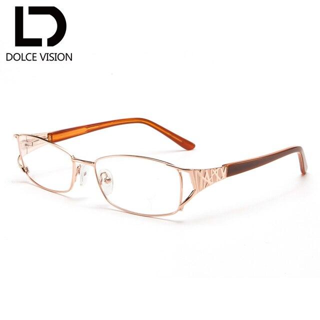 d667213e5c DOLCE VISION Fashion Gold Prescription Glasses Women 1.56 Photochromic  Lenses Hyperopia Spectacles Progressive Graduated Glasses