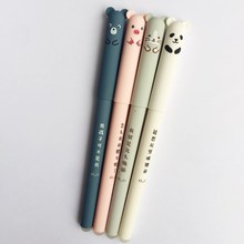 New 20PCS/lot Gel Ink Pen Cute Animal Panda Mouse Erasable 0.35mm School Office Supply Gift Students Stationery