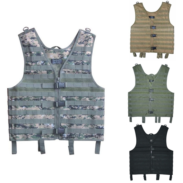 Hunting Black Green Tan Acu Tactical Vest Combat Molle Assault Military Army Outdoor Airsoft Paintball Armor Carrier Strike Vest by Clusgo