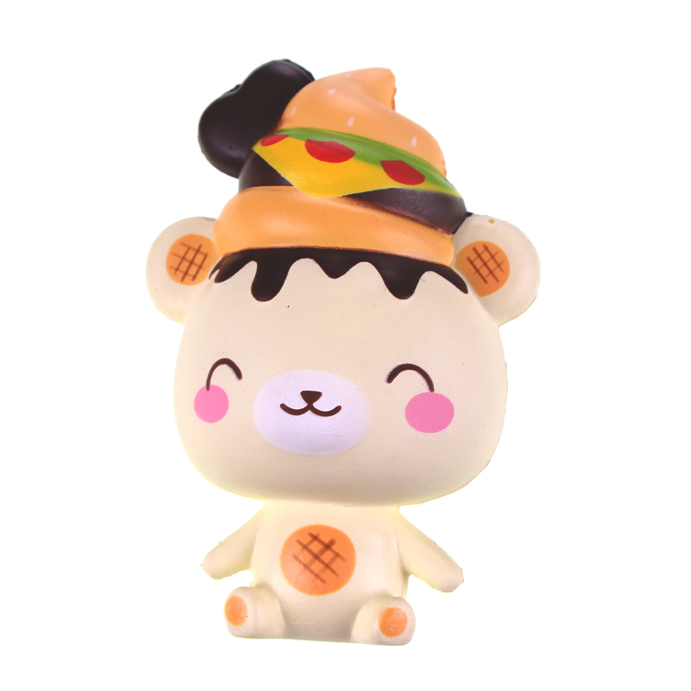 Squishy Bear Toys : Scented Yummiibear Burger Bear Squishy Breand Licensed Squishies Toys 1pcs Slow Rising Stress ...