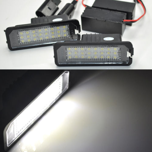 2x 24 LED Error Free Number License Plate Light For VW GOLF MK4 5 6 Passat EOS  2x error free led license plate light for volkswagen vw passat 5d passat r36 08
