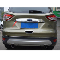 Chrome ABS Car Styling For Ford Escape Kuga 2013 2016 Car Trunk Door Decor Strip Trim Cover Exterior Accessories New