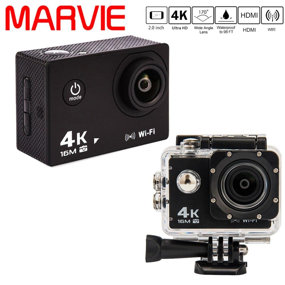 Marvie MA30 New Ultra HD 4K Sport Camera 30M Waterproof 2.0' Screen 1080P Action Camera Go DV and Car DVRs тв модуль ci триколор k m evr единый ultra hd европа