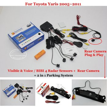 For Toyota Yaris 2005~2011 Car Parking Sensors Rearview Camera Auto Alarm Sensor Reverse System
