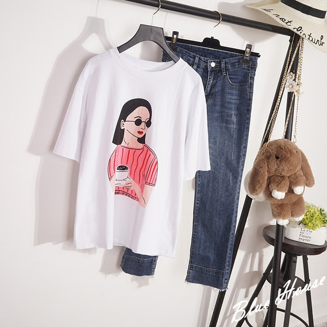 bb9e45b8145b 2018 New Summer Funny Top harajuku Designer T-shirts for Women Short Sleeve  Lolita Glasses