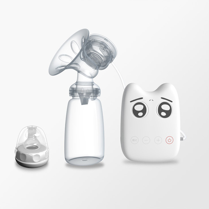 Portable Electric USB Breast Pump With Milk Bottle Silicone Powerful Nipple Suction For Baby Newborn Breasts Feeding FJ8