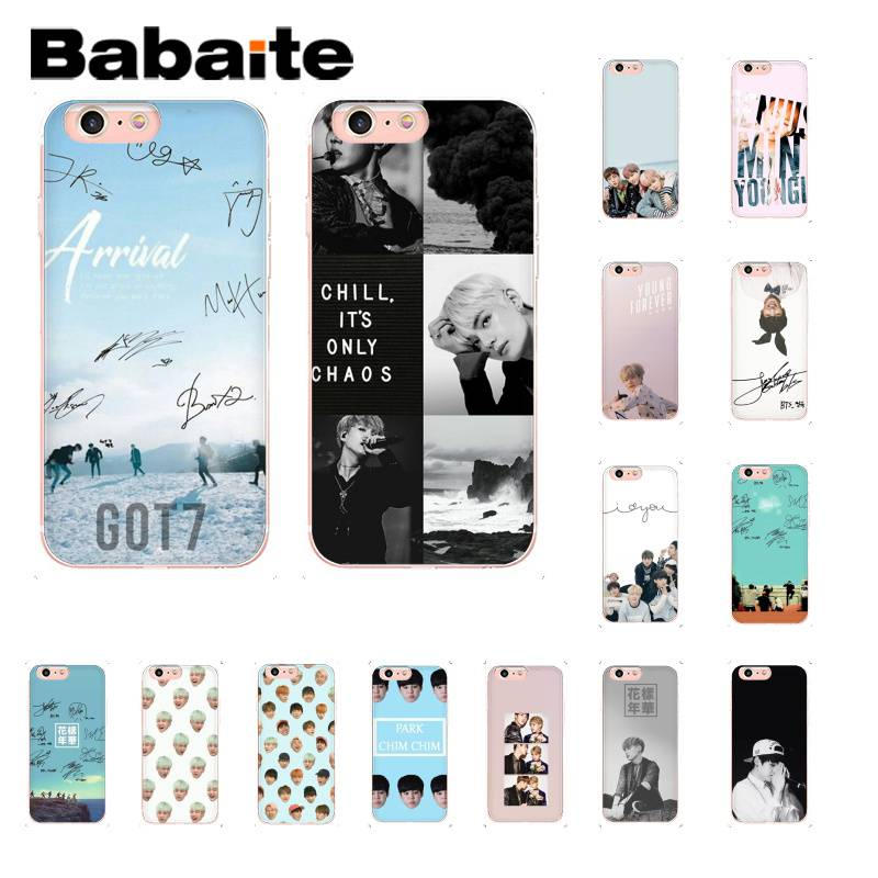 Babaite Kpop Bts Signature Soft Silicone Phone Case For Iphone 8 7 6 6s Plus X Xs Max 5 5s Se Xr 10 Cover Agreeable To Taste Half-wrapped Case
